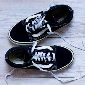 Womans Black Vans Sneakers Womans 5.5